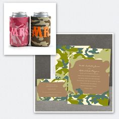 Use camouflage into your wedding!
