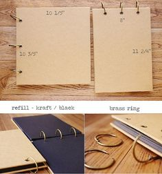Square Ring Binder Kraft Scrapbook Album // 48 por PapergeekMY