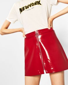 MINI PATENT FINISH SKIRT-SKIRTS-TRF | ZARA United States