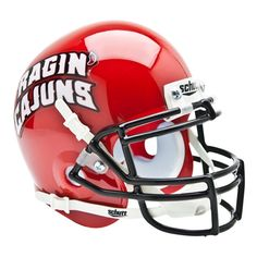 Louisiana Lafayette Ragin Cajuns Ncaa Authentic Mini 1-4 Size Helmet