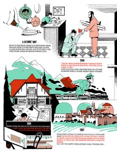 Vincent Mahé beautifully illustrates the life and work of Le Corbusier for Télérama.