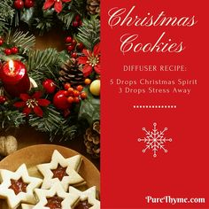 Ah, the smell of homemade Christmas cookies baking in the oven, who doesn't love that? This Christmas Cookie Holiday Diffuser Blend is one you definitely want to try! It is one of my favorites right now.