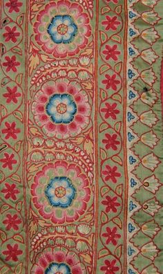 Mochi work embroidered Pichhvai from Gujarat, Cent, 228 cm by 188 cm. Motifs Textiles, Textile Fabrics, Vintage Textiles, Textile Patterns, Textile Prints, Textile Design, Textile Art, Fabric Design, Print Patterns