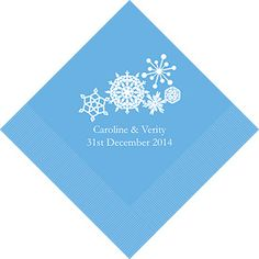 Add snowflake wedding napkins to your table decorations to add to the seasonal nature of your winter celebration.