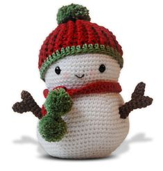Amigurumi Crochet Snowman Pattern  Frosty the Snowman door pepika