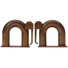 Modernist Bookends By Walter Von Nessen, 1930's | From a unique collection of antique and modern bookends at http://www.1stdibs.com/furniture/more-furniture-collectibles/bookends/