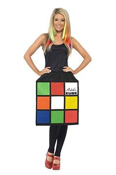 Buy from Fancypanda Look instantly recognizable in the officially licensed Rubik's Cube Costume. This iconic female fancy dress costume includes a cube dress.s perfect for a party! at a great price. Full Body Costumes, Adult Costumes, Costumes For Women, Female Costumes, Party Costumes, Funny Costumes, Funny Fancy Dress, 1980s Fancy Dress, 1980s Halloween Costume