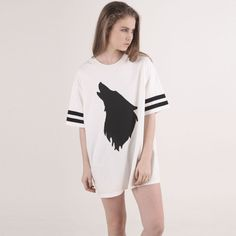 哲学なルーズTシャツ|holler oversized tee white by Monstore