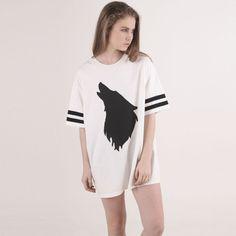 哲学なルーズTシャツ|holler oversized tee white by Monstore