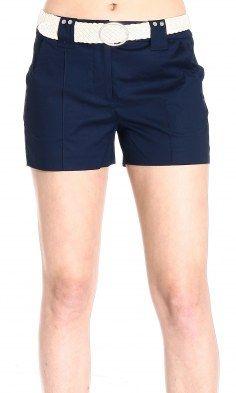 Giorgio Armani Woman Cotton bermuda shorts with belt
