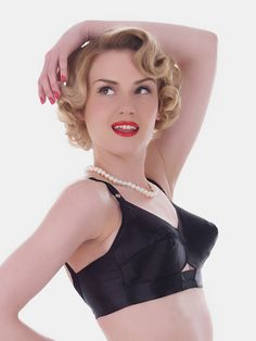 f1552e976d6 What Katie Did Maitresse bullet bra in black (also available in white).  Sizes 30 B-F