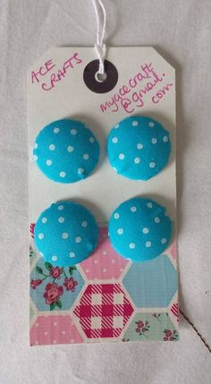 Cath Kidston Inspired Buttons 21mm x 4 by Myacecraft on Etsy