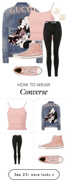 """""""Untitled #3825"""" by mfr-mtz on Polyvore featuring Gucci, Pilot, Topshop, Converse and Forever 21"""