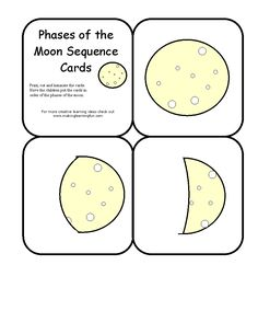 phases of the moon sequence cards
