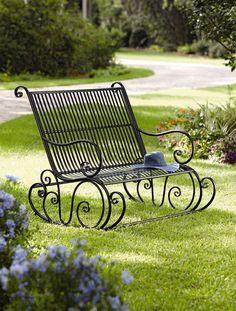 Fiddlehead Double Rocker, Rocking Bench | Buy from Gardener's Supply