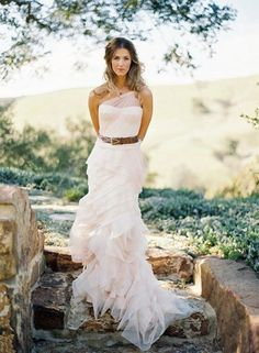 Lovely wedding dress with a fabulous belt