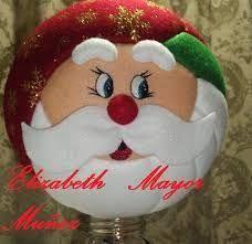 Resultado de imagen para MOGOLLAS DE NAVIDAD PASO A PASO Quilted Ornaments, Xmas Ornaments, Decor Crafts, Diy And Crafts, Christmas Holidays, Christmas Bulbs, Holiday Crafts, Holiday Decor, Felt Christmas Decorations
