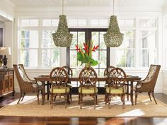 Shop this tommy bahama bali hai dining set from our top selling Tommy Bahama dining room sets. LuxeDecor is your premier online showroom for dining room furniture and high-end home decor. Casual Dining Rooms, Dining Room Sets, Dining Room Design, Dining Room Table, Daining Table, Dining Chairs, Sunroom Dining, Wicker Chairs, Dining Area