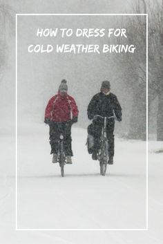 Winter biking gear: What to wear for cold weather cycling. Winter biking takes a different approach. Part of it is knowing how to dress for cold weather and wearing proper winter cycling gear. Here are some tips!