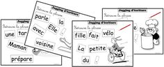 JOGGING D'ECRITURE CE1 • ReCreatisse Cycle 3, Teaching French, Diagram, Writing, Learning, School, Document, Montessori, Portrait
