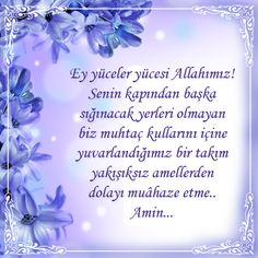 Hayırlı Ramazanlar...  Ey yüceler yücesi Allahımız! Senin kapından başka sığınacak yerleri olmayan biz muhtaç kullarını içine yuvarlandığımız bir takım yakışıksız amellerden dolayı muâheze etme.  Amin... #dua #ramazan #yeniumitdergi #kirikdilekce #cicek #kart #pray #God