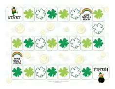 Free! St. Patrick's Day Open-Ended Board Game for any activity...fun reinforcer.