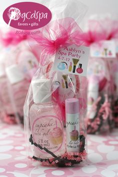 "spa party favors- the girls bday party  Beauty, that's my passion. ""Kathy's Day Spa Party""!"