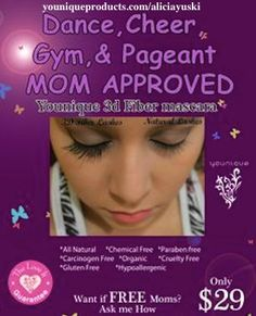 Safe for kids! #kids  #glutenfree #nontoxic #makeup #mascara #lashes #eyes #dance #cheer #pageant #chemicalfree www.fabulashing.com www.facebook.com/alicia.english.39
