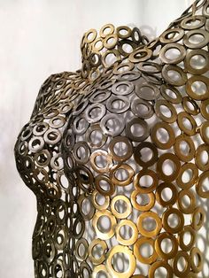 Skulptur abstrakter  Frauentorso 80 cm x 50 cm x 25 cm aus Metallstücken handverschweißt, 2017 Objects, Sculptures, Abstract, Handmade, Metal, Kunst