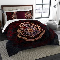 Harry Potter Twin / Full Comforter & Shams, 3 Piece Bed In A Bag, NEW