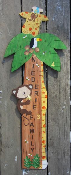 Petit Collage Growth Chart Tree Itti House Pinterest
