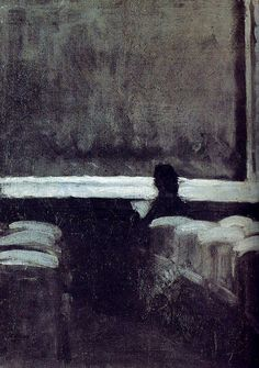 this isn't happiness™ (Solitary Figure in a Theater, Edward Hopper), Peteski