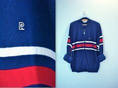 Pierre Cardin 80s mens track jacket . striped navy by SnapVintage, $24.00