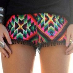 Neon tribal shorts. For when I'm fit and tan? (: