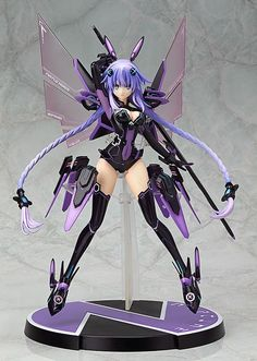 32cm Hyperdimension Neptunia Lastation Noire Action Figures Anime PVC brinquedos Collection Model toys Free shipping