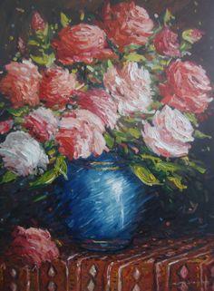 Oil Paint Romantic Series (Yağlıboya Romantic Seri) Romantic Series, Event Organization, Art Floral, Art Director, Still Life, Fine Art, Artist, Heaven, Floral Paintings