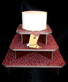 Cowboy Cupcake Display Stand 3 Tier by BellaLivelli on Etsy, $39.00