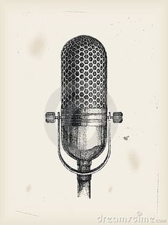 studio microphone drawing - Google Search
