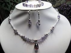 Amethyst teardrop and chips 3 piece set    Manufacturer: N/A  SKU: T129  Price: $38.00