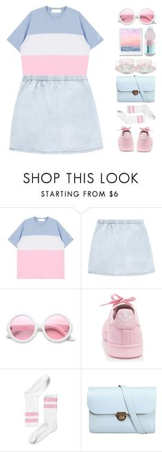 """""""shine ☄️ bright"""" by seriouskatya ❤ liked on Polyvore featuring ZeroUV, adidas, Monki, N'Damus and Spring"""