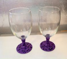 Leopard Print Hand Painted Wine Goblet Set by MaidenLongIsland