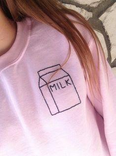 pink, fashion, and milk kép