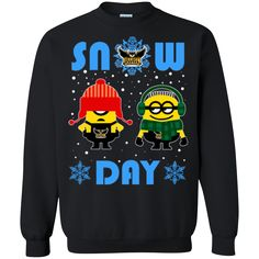 Minion Kennesaw State Owls Ugly Christmas Sweaters Snow Day Snowflake Sweatshirts