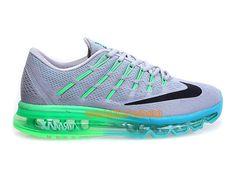8fedf392ed7f Nike Air Max 2016 Chaussures Nike Sportswear Pas Cher Pour Homme Gris Vert  Bleu Noir 764892-700