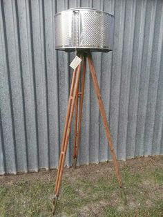 LED Upcycled tripod lamp