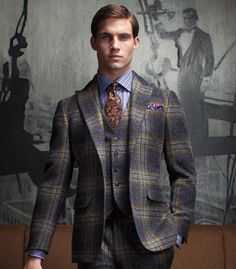 Enlarge Noose & Monkey Tartan Suit Jacket In Skinny Fit | clothes