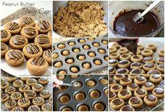 Peanut butter choc cups Sweet Recipes, Snack Recipes, Dessert Recipes, Cooking Recipes, Snacks, Yummy Recipes, Delicious Desserts, Yummy Food, Peanut Butter Fudge