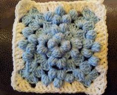Bobble Granny Square - free crochet pattern