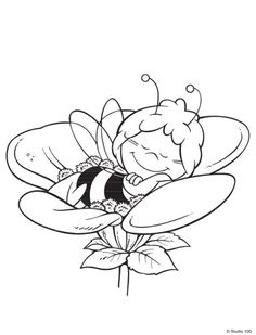 Maya The Bee Coloring Pages 28 Bee Coloring Pages, Disney Coloring Pages, Free Printable Coloring Pages, Coloring Pages For Kids, Coloring Books, Tattoo Maya, Diy Planner, Pokemon Coloring, Bee Party