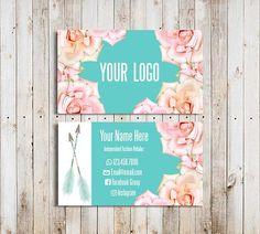 #LULAROE Custom Boho Business Cards Flowers Home Office Approved Font